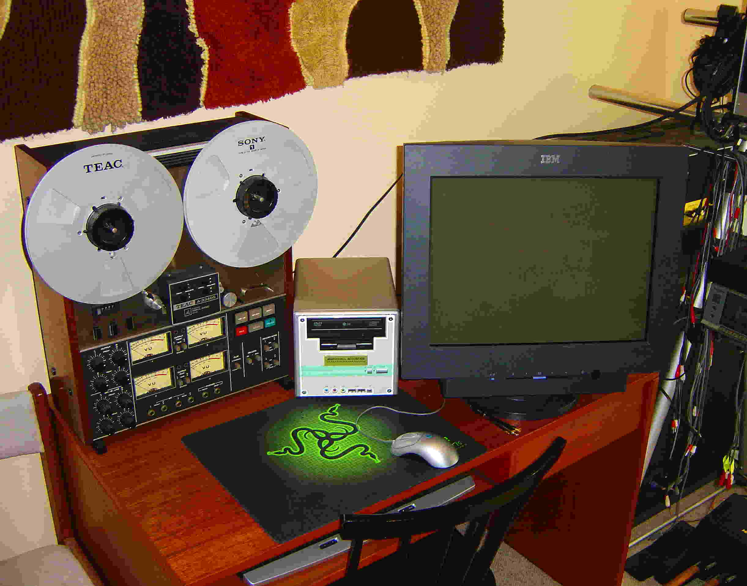 Marschall Acoustics Instruments Digital Audio Workstation Mk II and Mk III Beta with Teac 3340 Reel-to-Reel Tape Deck